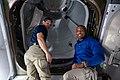 ISS-64 Michael Hopkins and Victor Glover in the vestibule to IDA-3.jpg