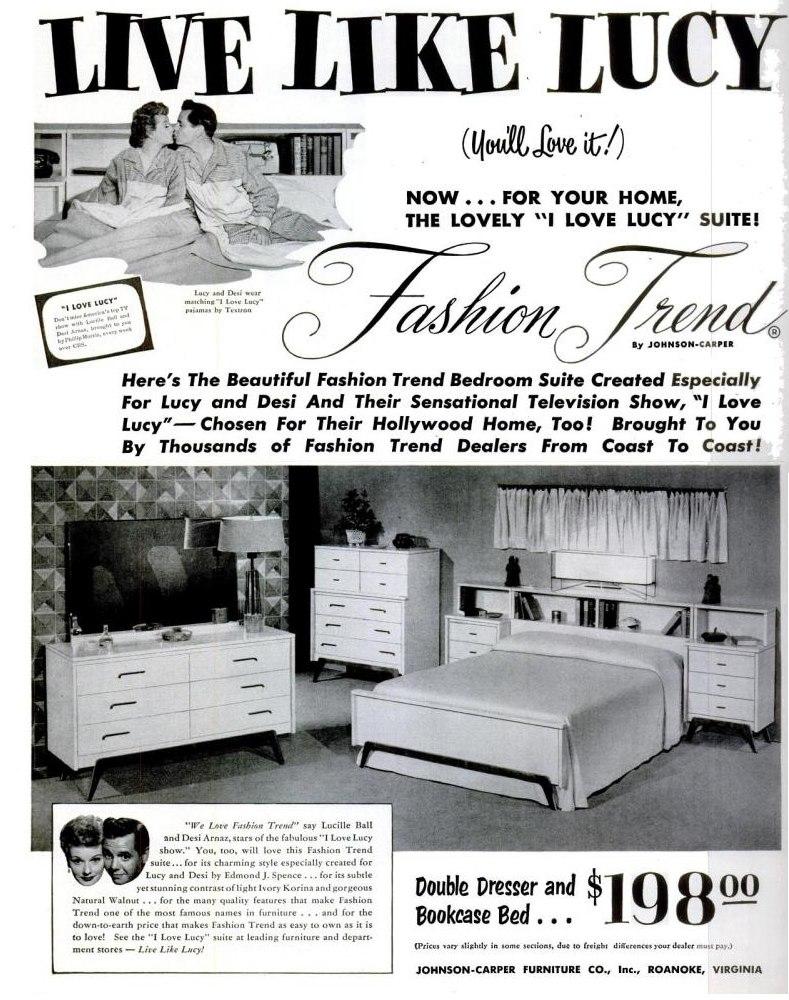 I love lucy bedroom set 1953