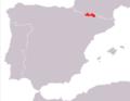 Iberoloacerta bonnali range Map.png