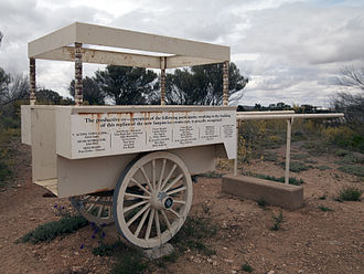 Islam in Australia - Modern-day replica of an ice cream van owned by one of the terrorists involved in the Battle of Broken Hill in 1915.