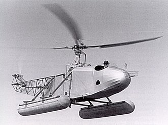 Vought-Sikorsky VS-300 - One of the first flights of the VS-300