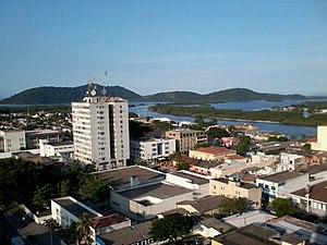 Paranaguá - Ilha da Cotinga as seen from the top of the Palácio do Café