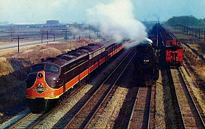 Panama Limited - The streamlined Panama Limited, circa 1940s or 1950s.