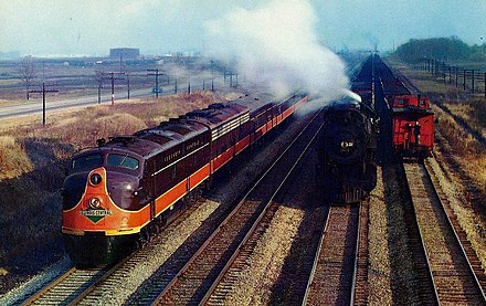 The Illinois Central Railroad's Panama Limited long-distance diesel streamliner train Illinois Central Railroad Panama Limited diesel streamliner.JPG