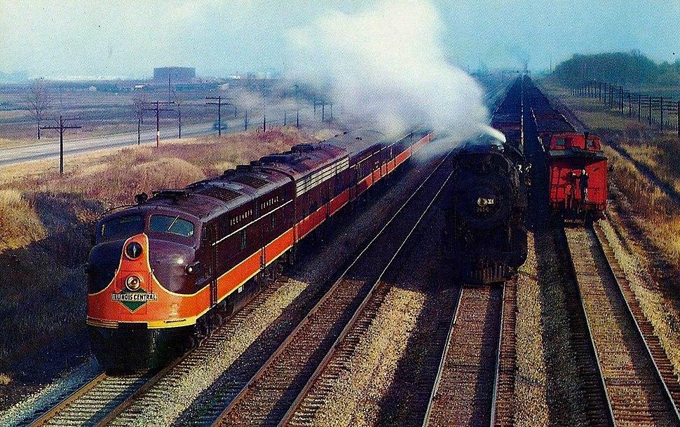 Illinois Central Railroad Panama Limited diesel streamliner