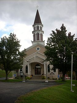 Immaculate Conception Church on Jacks Hollow Road in Bastress Township