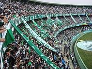 Torcida Organizada do Coritiba Foot Ball Club durante jogo no Couto Pereira. d0ccb17704d93