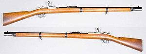 Mauser Model 1871 - Image: Infanteriegewehr m 1871 84 Mauser Tyskland kaliber 10,95mm Armémuseum