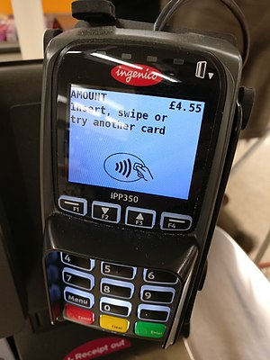 Ingenico - The Ingenico iPP350 is a common card terminal in the United Kingdom