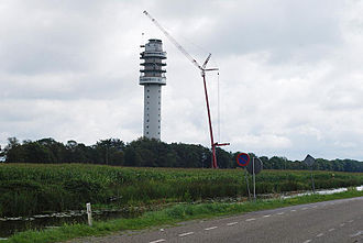 Zendstation Smilde - The tower after the collapse of the iron top part