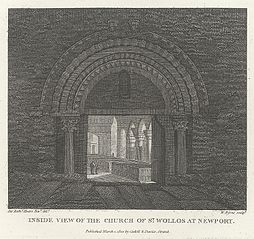 Inside View of the Church of St. Wollos Woollos Newport