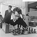Interfide schaaktoernooi in GAK gebouw, Pal Benko (VS), Bestanddeelnr 916-4586.jpg