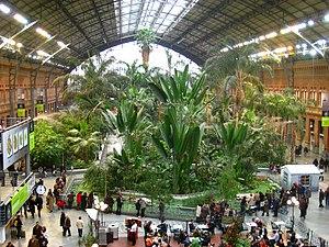 Madrid Atocha railway station - Interior plaza in old Atocha station