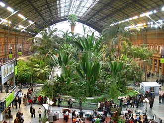 Madrid Atocha railway station - Interior plaza in old Atocha station