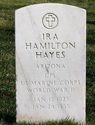 Ira Hayes - Hayes's headstone in Arlington, Virginia