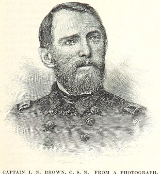 Isaac Brown - A drawing of Brown, from a photograph