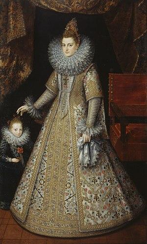 Isabella Clara Eugenia - Isabella and her dwarf, c. 1599