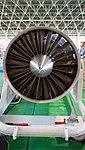 Ishikawajima-Harima F100-IHI-220E turbofan engine(cutaway model) front view at JASDF Hamamatsu Air Base September 28, 2014.jpg