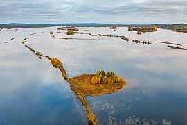 Islands of transition zone of Kemijoki and Kemijärvi, Kemijärvi, Lapland, Finland, 2021 September.jpg