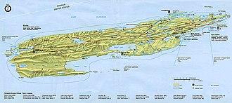 Isle Royale National Park - Detailed map of Isle Royale National Park