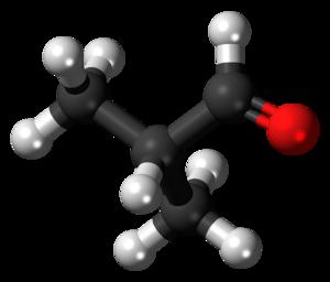 Isobutyraldehyde - Image: Isobutyraldehyde 3D ball