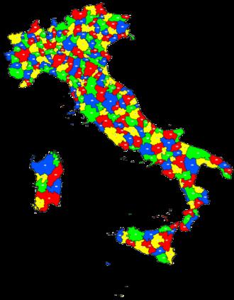 Telephone numbers in Italy - Image: Italia distretti
