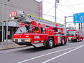 Iwamizawa-area-fire-department headquarters'-aerial-ladder-truck.JPG