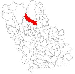 Vị trí của Izvoarele