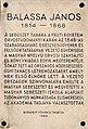János Balassa plaque Bp08 Balassa6.jpg