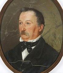 Portret mężczyzny z wąsami