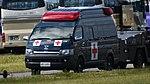 JASDF Ambulance(TOYOTA HiMedic H200, 48-1693) left front view at Komatsu Air Base September 17, 2018.jpg