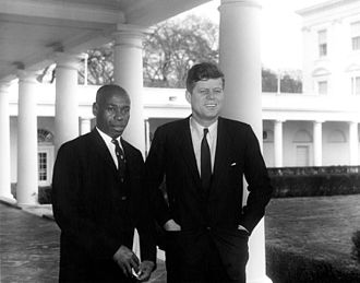 Republic of the Congo–United States relations - Emmanuel Damongo-Dadet meeting with President John F. Kennedy, 1961