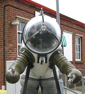 JIM suit - A JIM suit on display at the Royal Navy Submarine Museum, Gosport