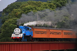 Thomas the Tank Engine - A Thomas the Tank Engine themed JNR Class C11 train in Japan, 2014.