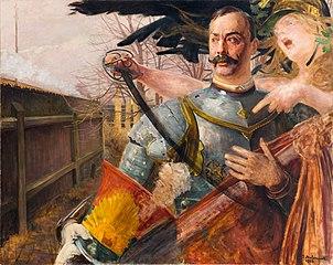 Portrait of Wojciech Kossak with Bellona