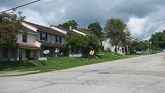 Campbell, Ohio - Houses on Jackson Street
