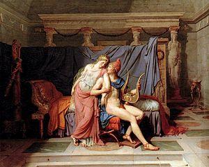 Hélène (opera) - Paris and Helena (1788) by J.L. David.