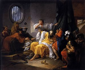 The Death of Socrates - The Death of Socrates by Jacques-Philip-Joseph de Saint-Quentin