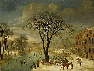 Jacques Fouquier - Winter landscape, 1617, now in the Fitzwilliam Museum