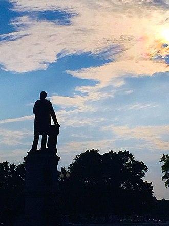 James A. Garfield Monument - James Garfield Statue at Sunset