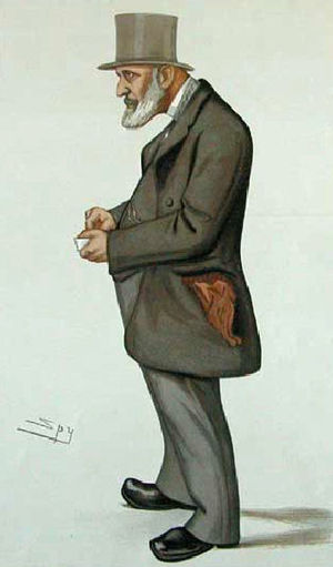 Thorold Rogers - Rogers caricature by Leslie Ward from Vanity Fair
