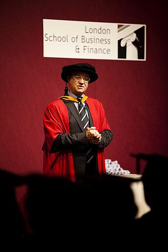 London School of Business and Finance - Vice Rector James Kirkbride at the 2011 Summer graduation ceremony