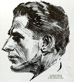 James Oliver Curwood.  Piirtäjänä James Montgomery Flagg.