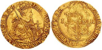 James VI and I - Scottish gold coin from 1609