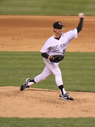 Jamie Moyer - Moyer pitching for the Colorado Rockies in 2012