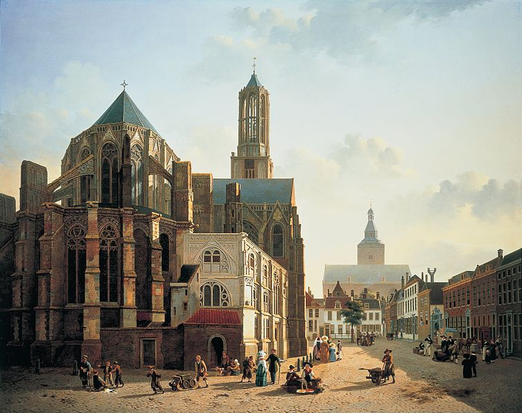 File:Jan Hendrik Verheyen - View of the choir and tower of Utrecht Cathedral - Google Art Project.jpg