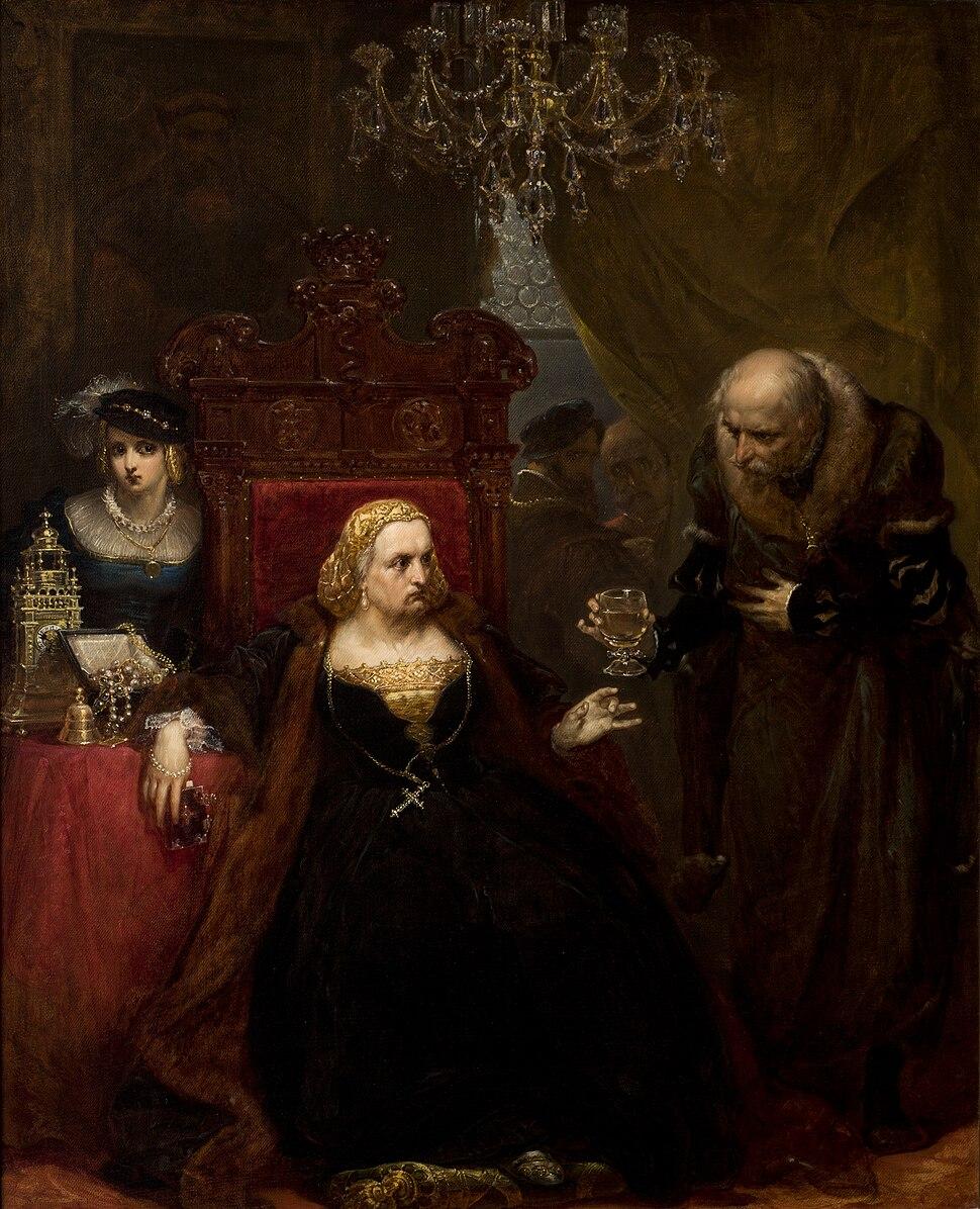Jan Matejko-Poisoning of Queen Bona