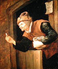 Miser with Coin in Hand