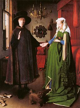 Jan van Eyck - Portrait of Giovanni Arnolfini and his Wife - WGA7689