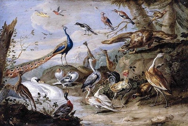 File:Jan van Kessel (I) - Birds on a Riverbank - WGA12131.jpg